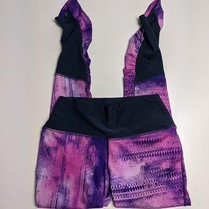 Nike Leggings Hi Rise Pink Multi Colour Dri Fit Large